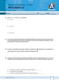 Matemática - Curso e Colégio Acesso