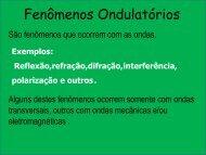 Fenômenos Ondulatórios - Curso e Colégio Acesso