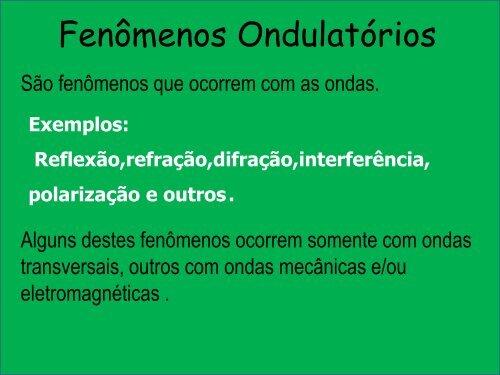 Fenômenos Ondulatórios - Curso e Colégio Acesso 30ddb79810