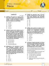 Lista de exercícios – Física - Curso e Colégio Acesso
