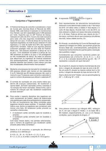 Matemática 2 - Curso e Colégio Acesso