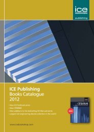 ICE Publishing Books Catalogue 2012 - ICE Virtual Library