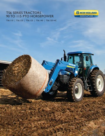 ts6 series tractors 90 to 115 pto horsepower - New Holland