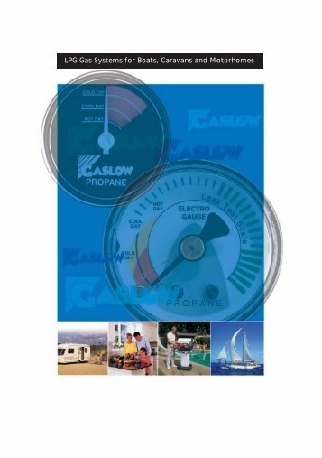 LPG Gas Systems for Boats, Caravans and Motorhomes
