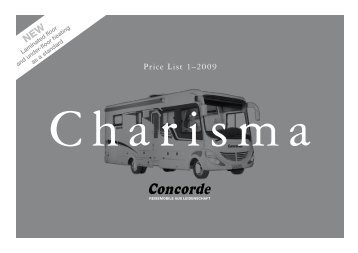 2009 Concorde Charisma Brochure - English version (2.2 MB PDF)