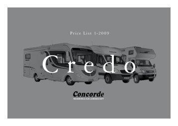 2009 Concorde Credo Brochure - English version (0.8 MB PDF)