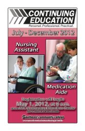 Nursing Assistant (continued) - Southeast Community College