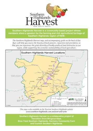 Southern Highlands Harvest is a community-based project whose ...