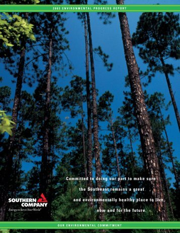 2003 Environmental Progress Report - Southern Company
