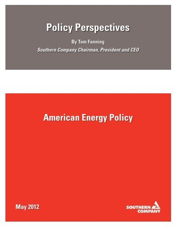 American Energy Policy Perspectives - Southern Company