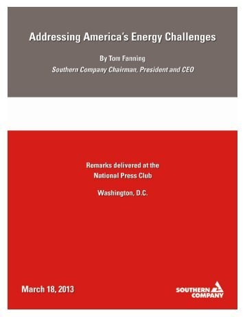 Addressing America's Energy Challenges - Southern Company
