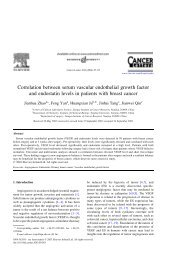 Correlation between serum vascular endothelial growth factor and ...