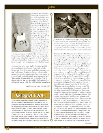 Collings D1 and D2H reviews - Collings Guitars