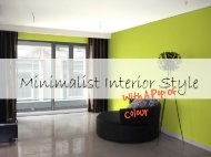 Minimalist Interior Style With A Pop Of Colour