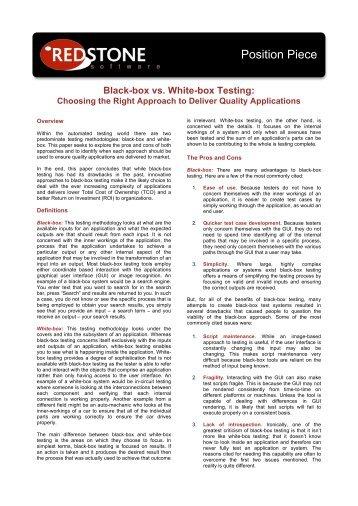 Black-Box vs White-Box Testing