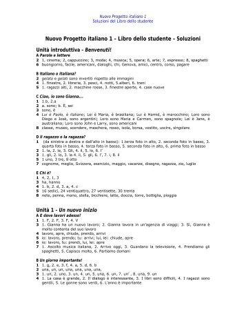 Nuovo Progetto italiano 1 – Libro dello studente ... - Edilingua