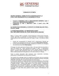 COMUNICATO STAMPA GRUPPO GENERALI ... - Euroborsa