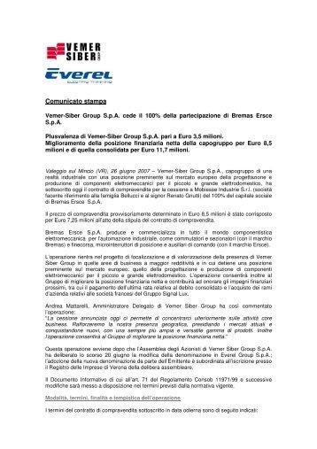 Comunicato stampa - Euroborsa