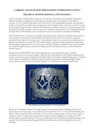 The Royal Masonic Hospital and Its Jewels - The Library and ...