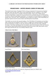 Grand rank - The Library and Museum of Freemasonry