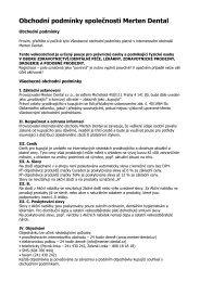 Obchodní podmínky (vydané 1. 10. 2011) - Merten dental