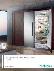 Catálogo Exclusivo Estudios de Cocina 2007/2008 - Siemens