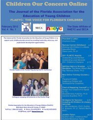 COC Online 2012 Final.pdf - Southern Early Childhood Association