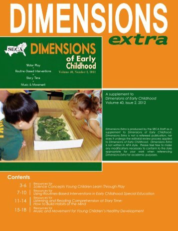 Contents - Southern Early Childhood Association