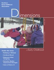Dimensions of Early Childhood - Southern Early Childhood ...