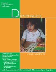 FAL03 Page Layout - Southern Early Childhood Association