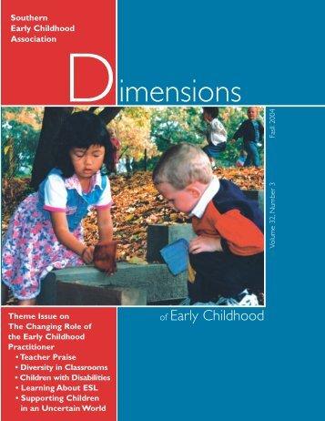 Fall 04 Layout - Southern Early Childhood Association