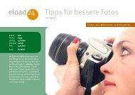 Tipps für bessere Fotos 24 eload - Strato Demo Downloadshop