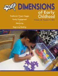 Volume 40, Number 3, 2012 Traditional, Project, Reggio ° Family ...