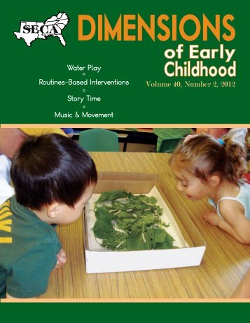 Water Play - Southern Early Childhood Association