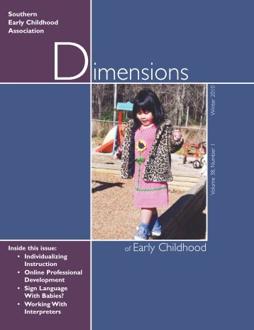 90223 Dimensions Winter 10:Layout 1 - Southern Early Childhood ...