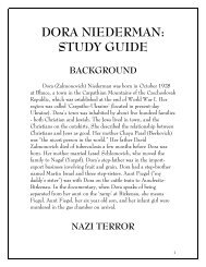 DORA NIEDERMAN: STUDY GUIDE