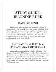 STUDY GUIDE: JEANNINE BURK