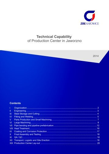 Technical Capability of Production Center in Jaworzno