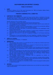 Terms of Reference Pinnaroo Swimming Pool Committee - Southern ...