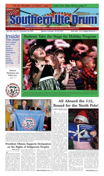 December 30, 2010 - Southern Ute Indian Tribe