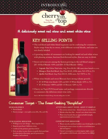 KEY SELLING POINTS - Southern Wine & Spirits