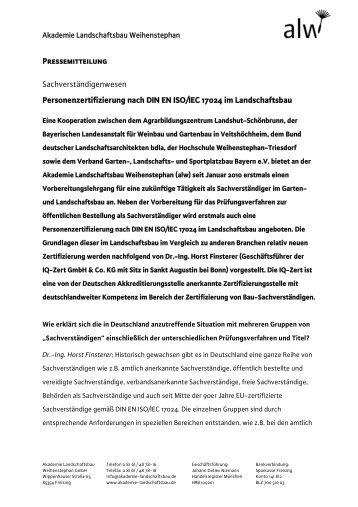 Interview mit Dr.-Ing. Horst Finsterer - DEGA GaLaBau