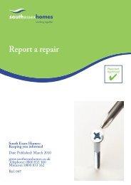 Report a repair - South Essex Homes