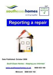 Reporting a repair - South Essex Homes