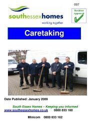 Caretaking - South Essex Homes