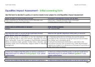 Equalities Im pact Assessm ent– initial screening form - South Essex ...