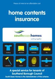 home contents insurance - South Essex Homes