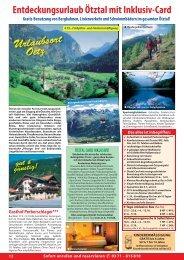 Entdeckungsurlaub Ötztal mit Inklusiv-Card - Dietrich Touristik ...