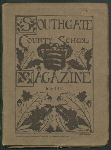 No 12 - July 1914 - Southgate County School