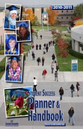 Ucce ss tudent planner handbook - South Seattle Community College